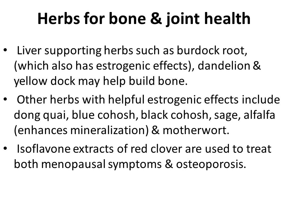 Herbs for bone & joint health