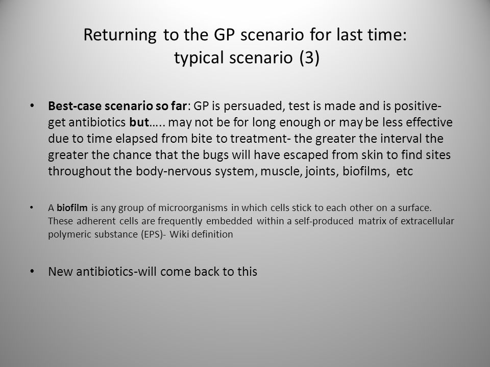 Returning to the GP scenario for last time: typical scenario (3)
