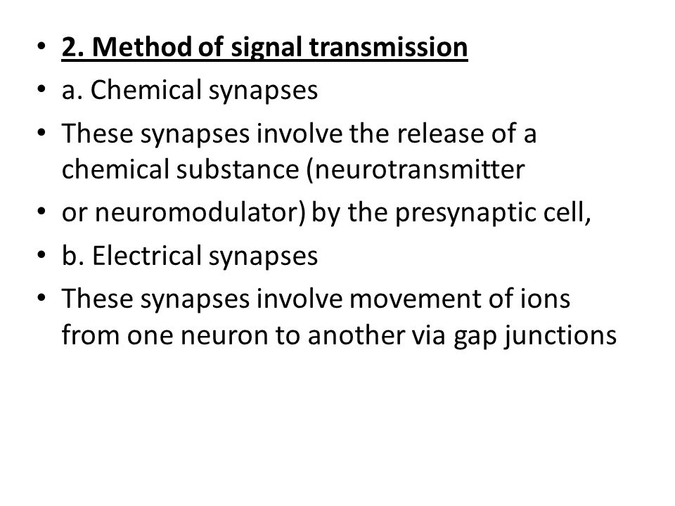 2. Method of signal transmission