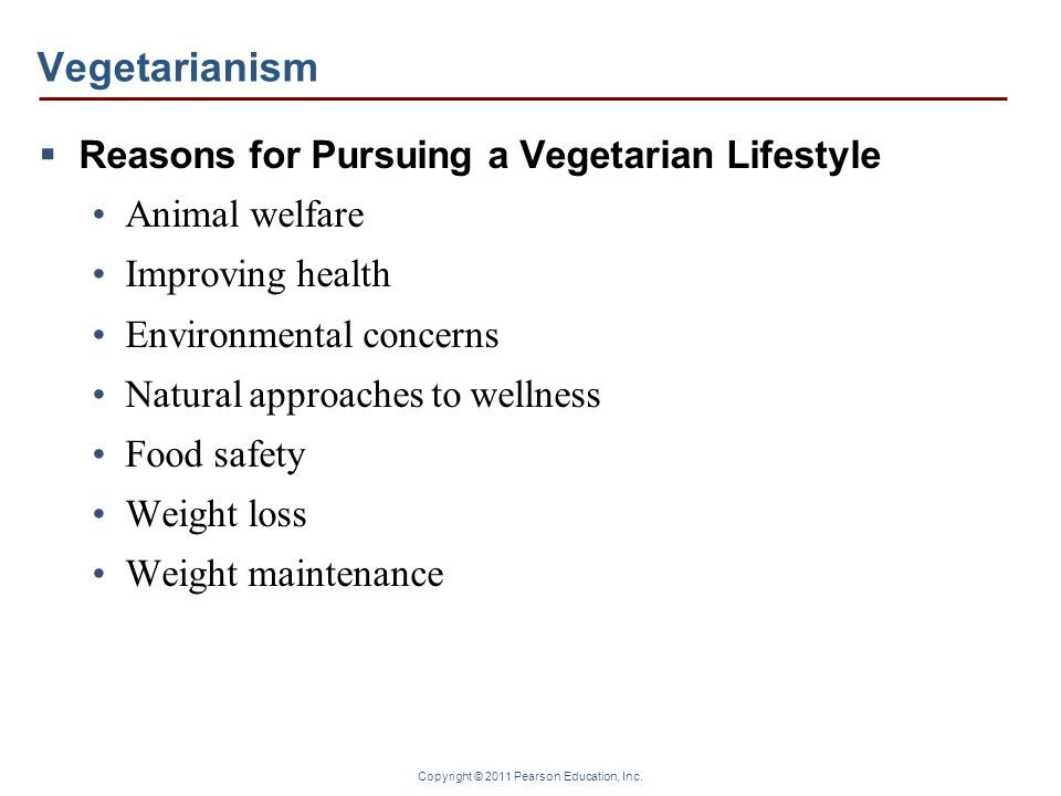 Vegetarianism Reasons for Pursuing a Vegetarian Lifestyle