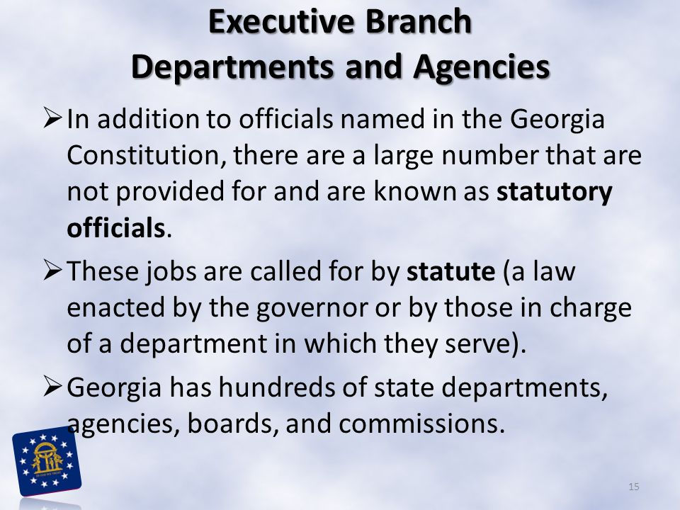 Executive Branch Departments and Agencies