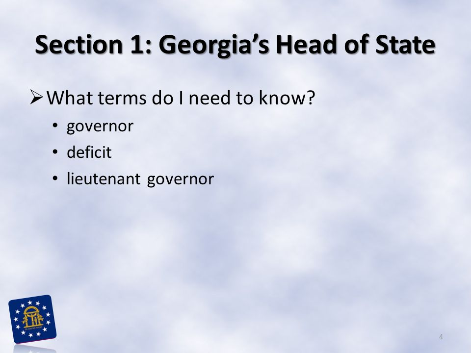 Section 1: Georgia's Head of State