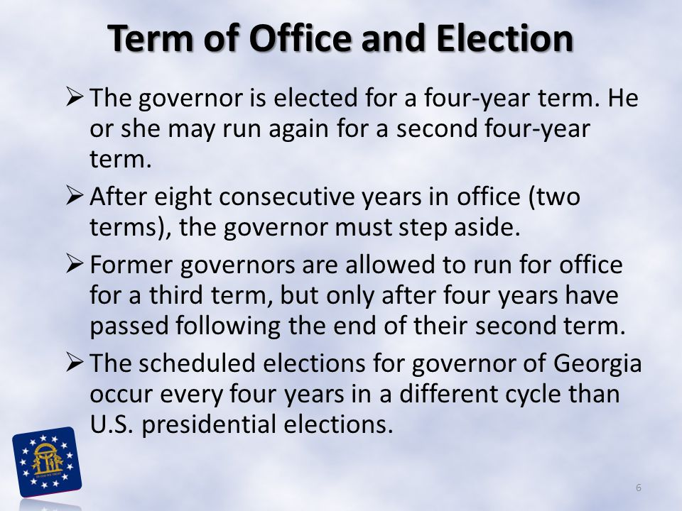 Term of Office and Election