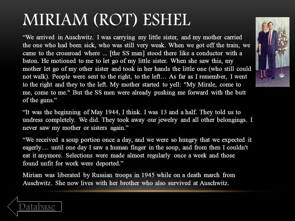 Miriam (Rot) Eshel Database