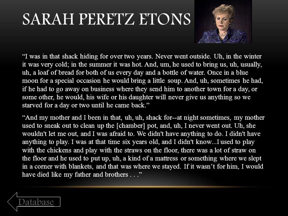 Sarah Peretz Etons Database