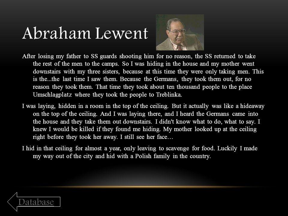 Abraham Lewent Database