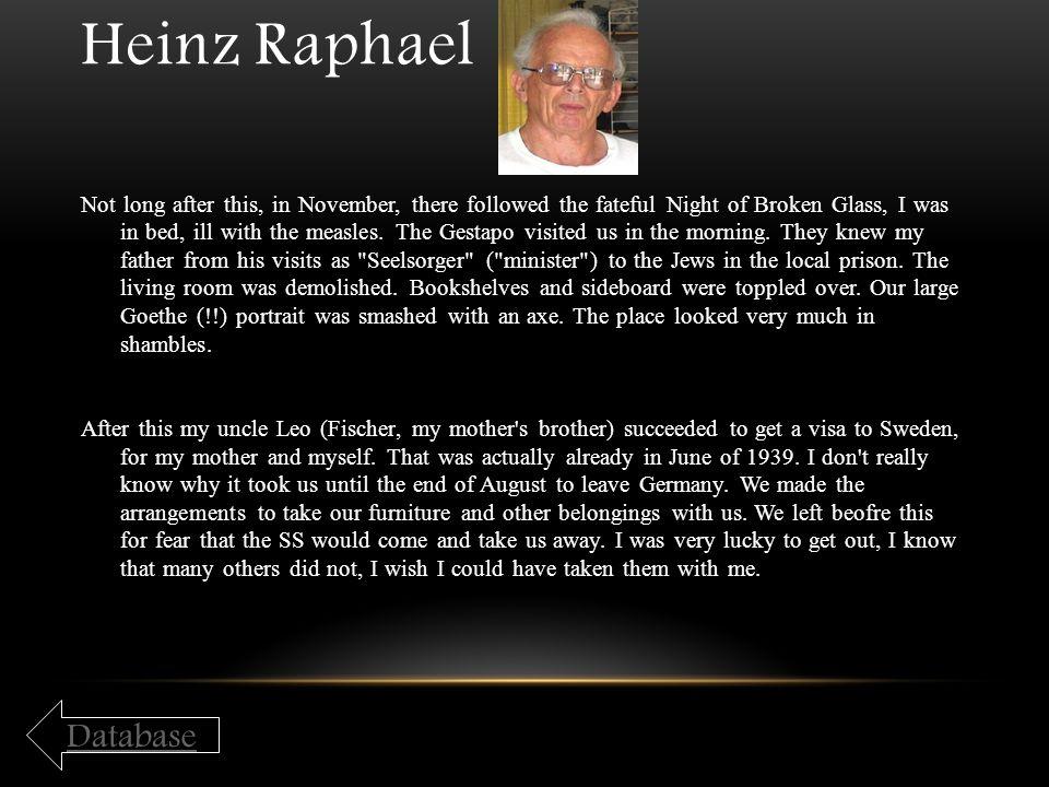 Heinz Raphael Database