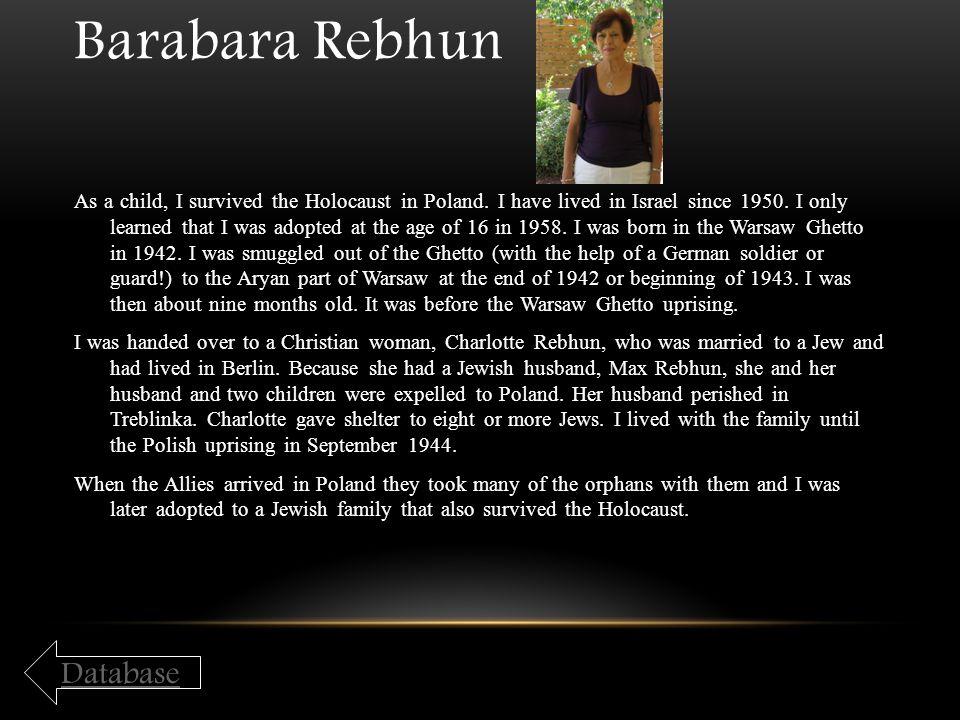 Barabara Rebhun Database