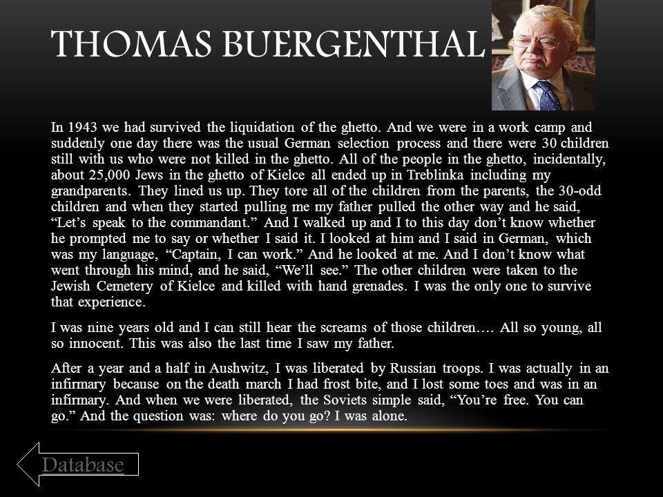 Thomas Buergenthal Database