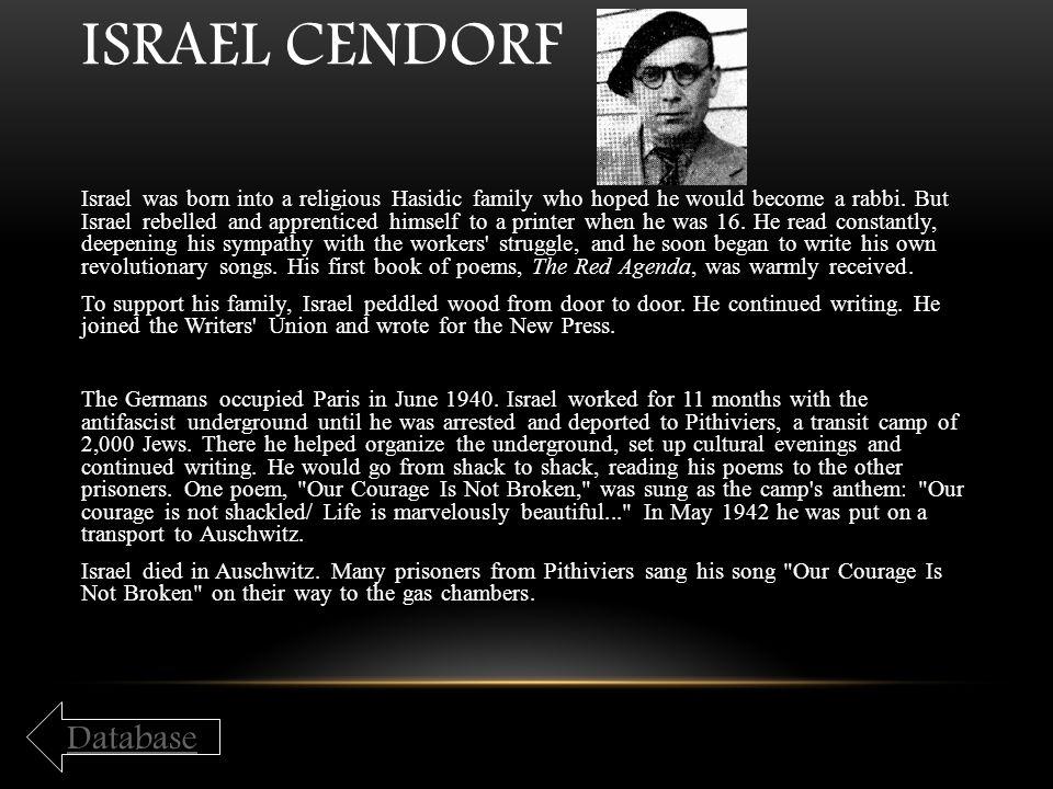 Israel Cendorf Database