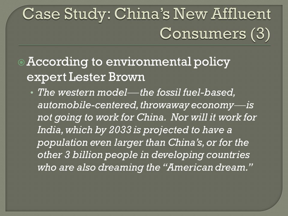 Case Study: China's New Affluent Consumers (3)