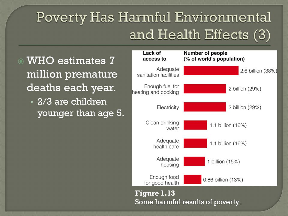 Poverty Has Harmful Environmental and Health Effects (3)