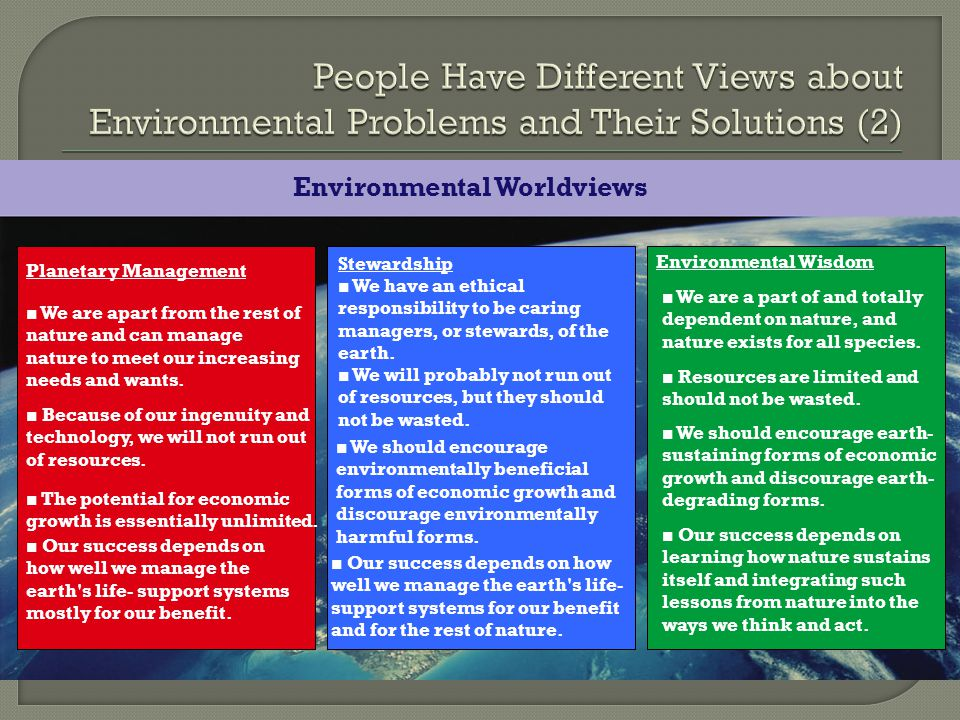 People Have Different Views about Environmental Problems and Their Solutions (2)