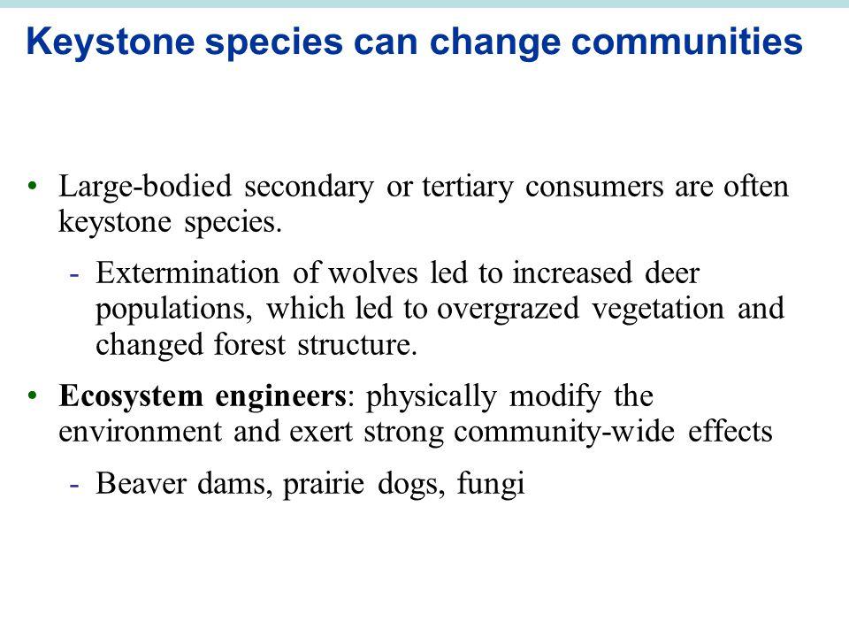Keystone species can change communities