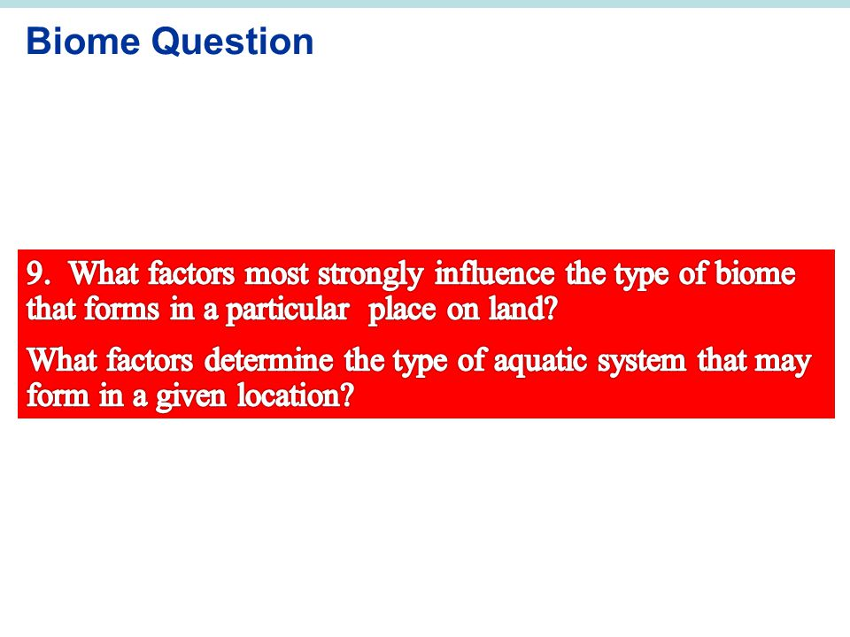 Biome Question