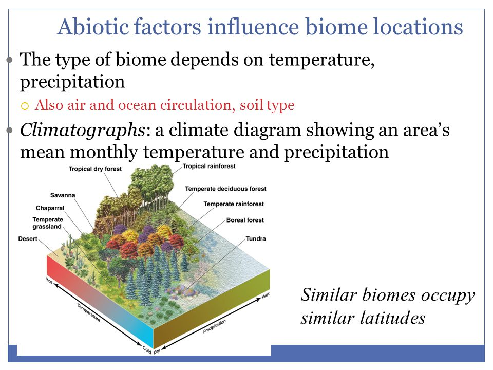 Abiotic factors influence biome locations