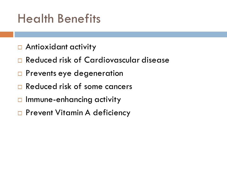 Health Benefits Antioxidant activity