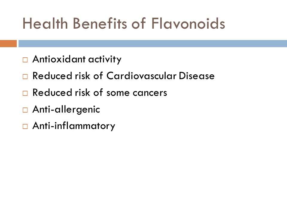 Health Benefits of Flavonoids