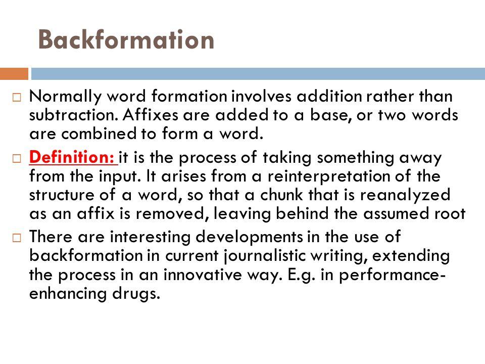 Backformation