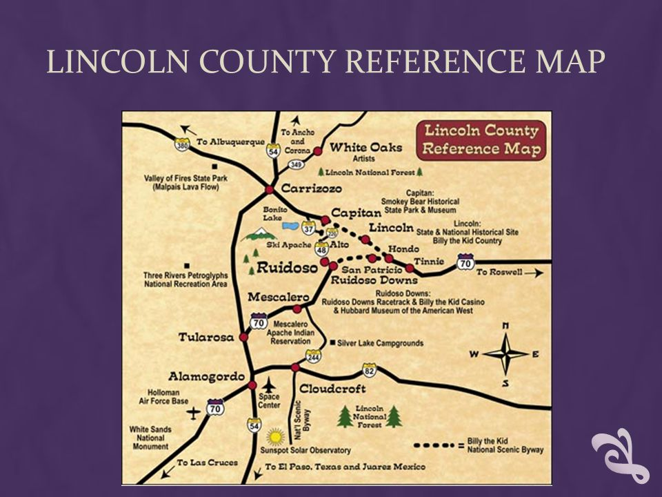 Lincoln County Reference Map
