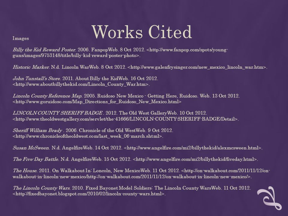 Works Cited Images.