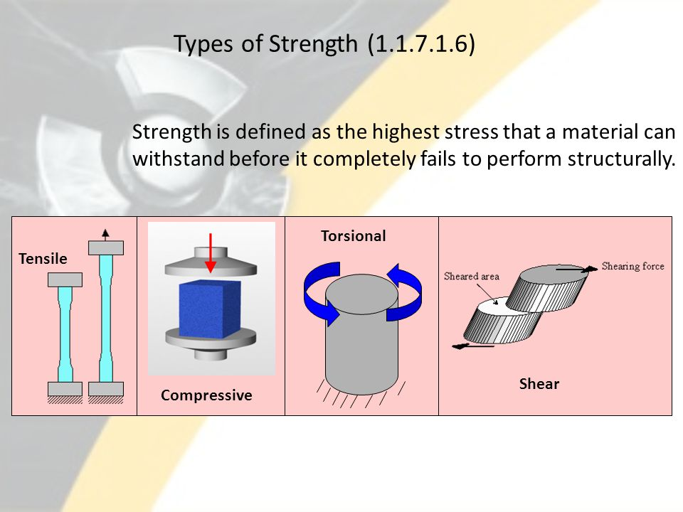 Types of Strength (1.1.7.1.6)