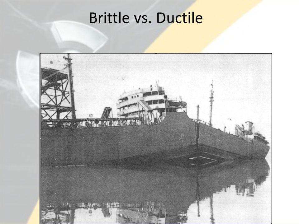 Brittle vs. Ductile