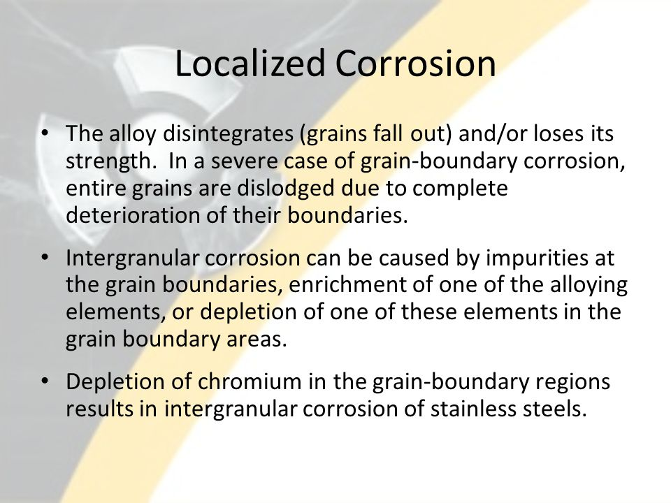 Localized Corrosion