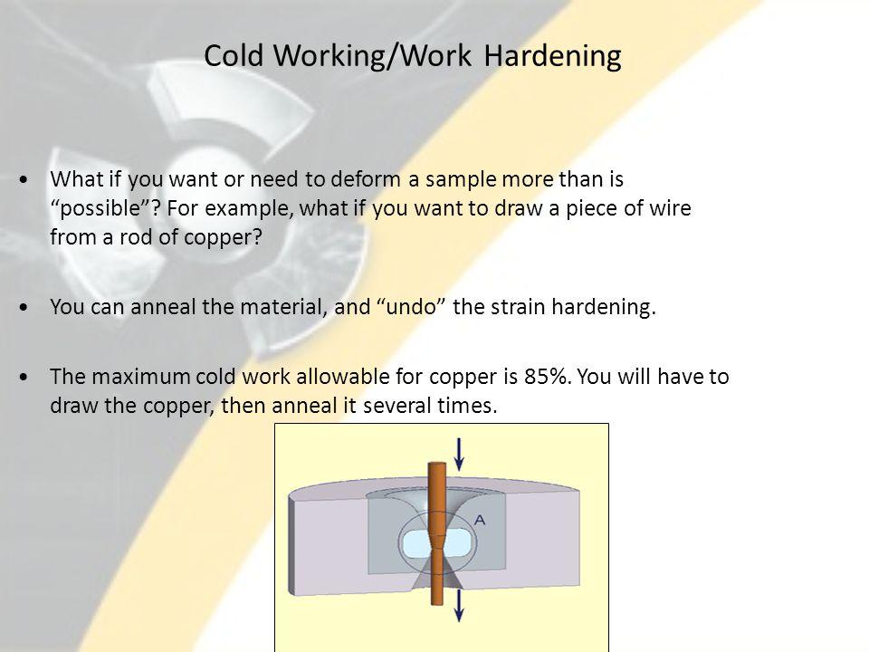 Cold Working/Work Hardening