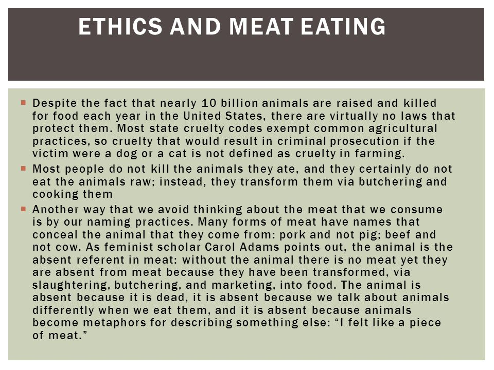 Ethics and Meat Eating