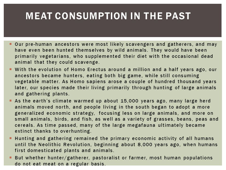 Meat Consumption in the Past