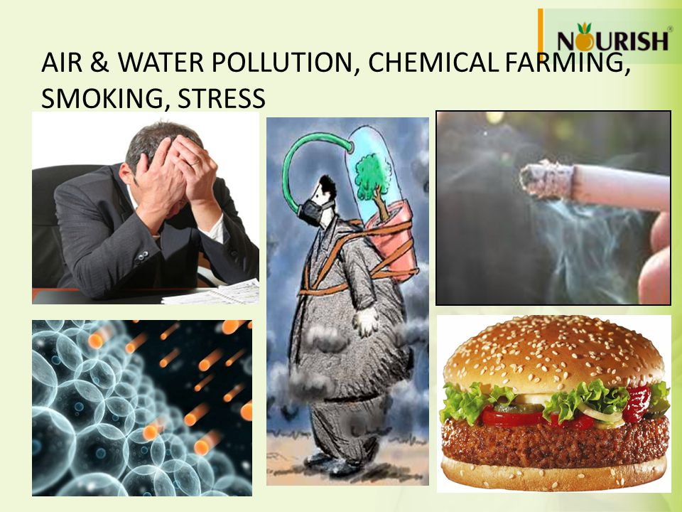 AIR & WATER POLLUTION, CHEMICAL FARMING, SMOKING, STRESS