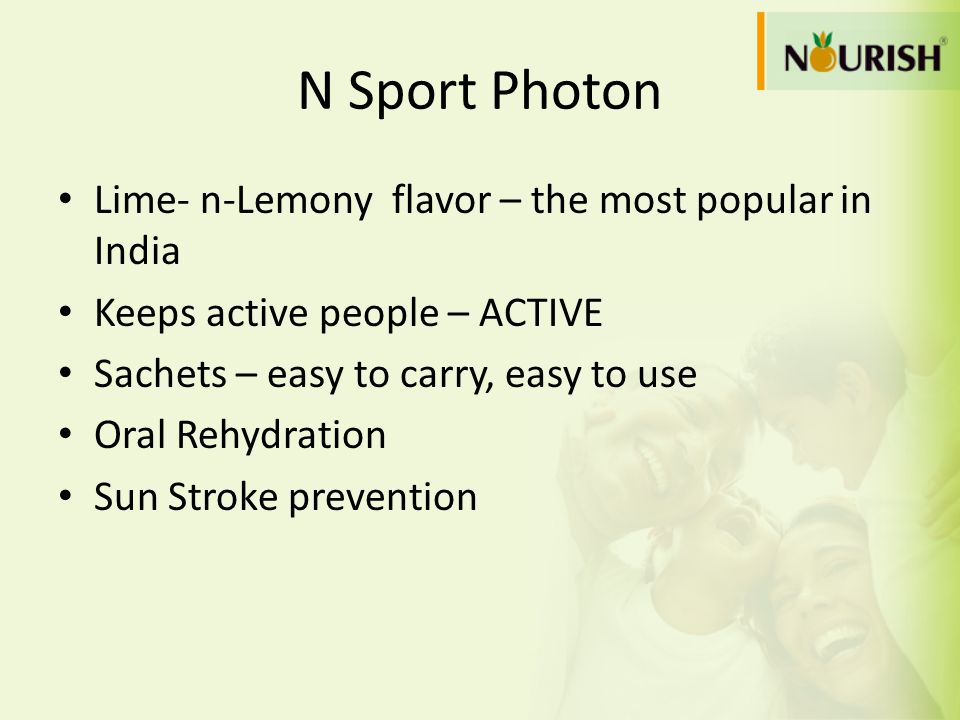 N Sport Photon Lime- n-Lemony flavor – the most popular in India