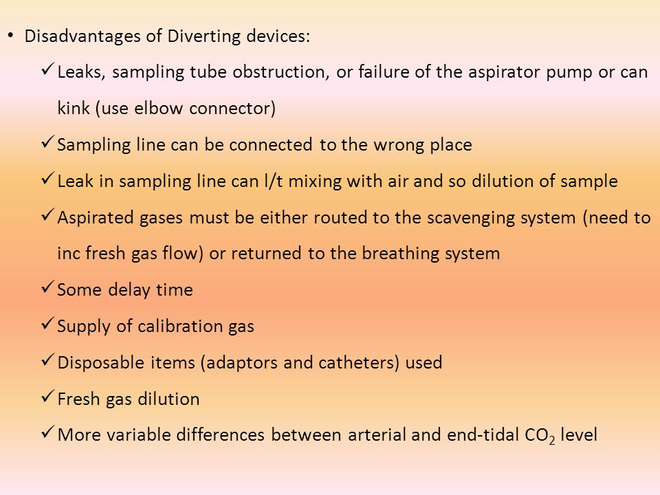 Disadvantages of Diverting devices: