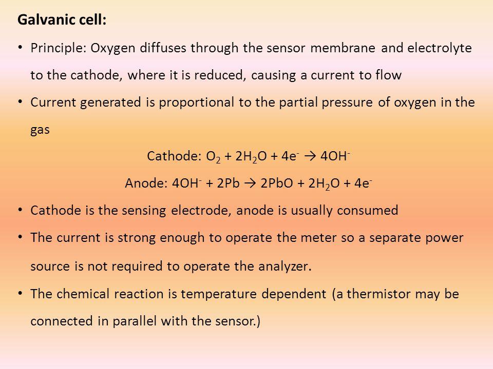 Anode: 4OH- + 2Pb → 2PbO + 2H2O + 4e-