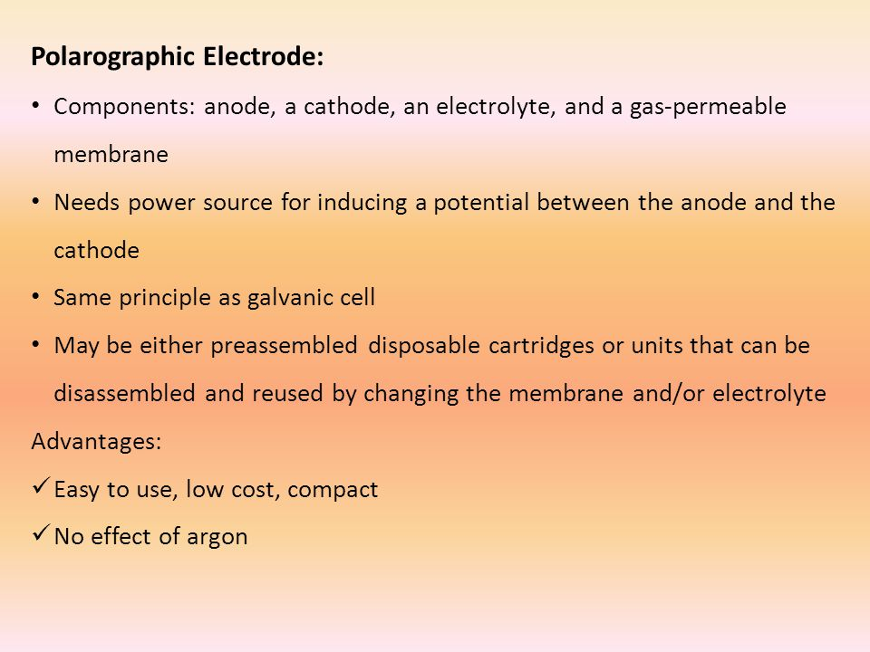 Polarographic Electrode: