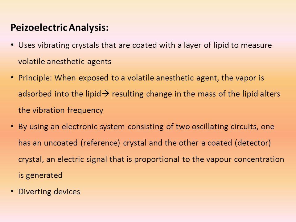 Peizoelectric Analysis:
