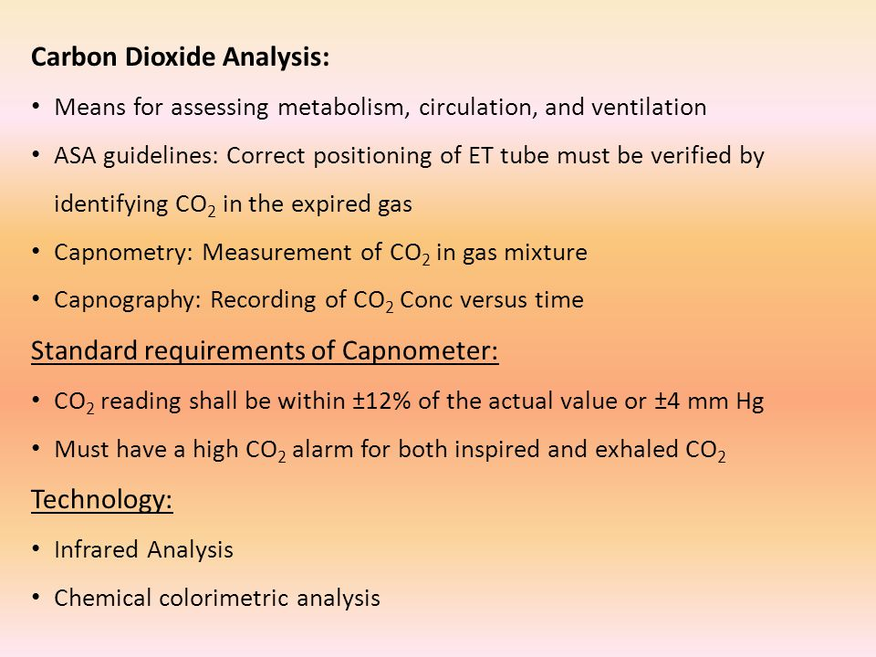 Carbon Dioxide Analysis: