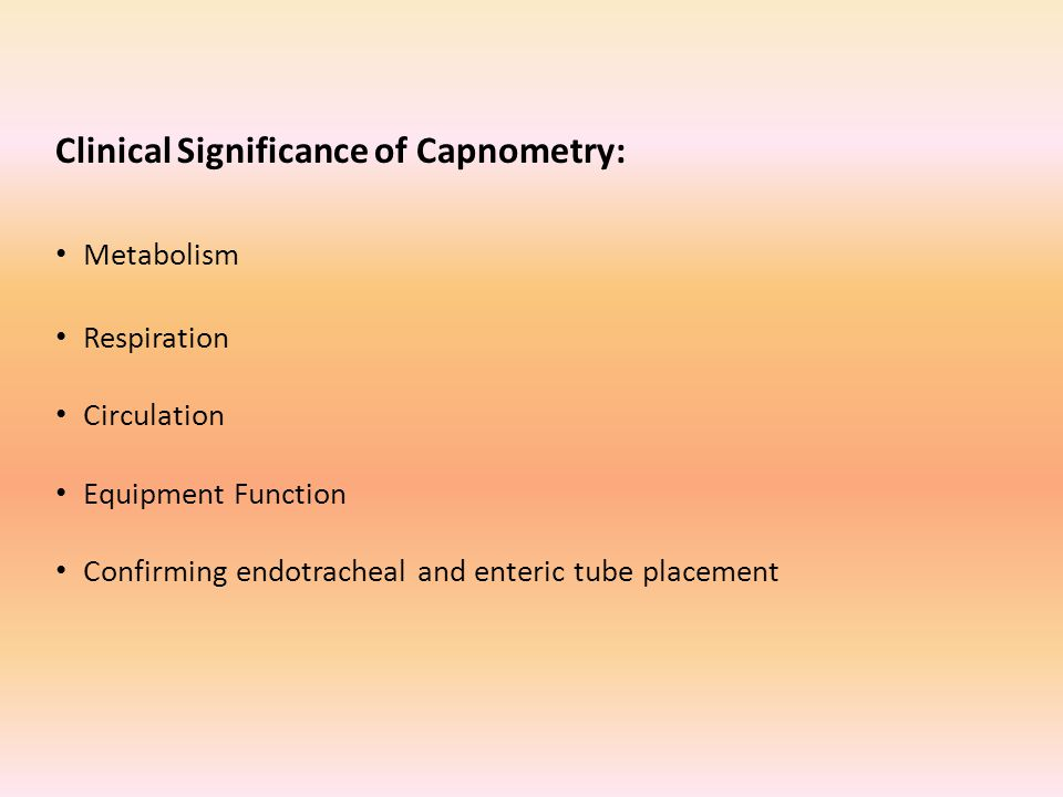 Clinical Significance of Capnometry:
