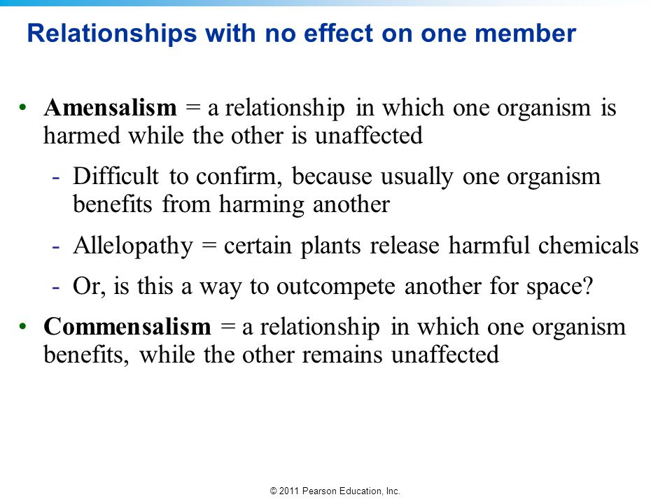 Relationships with no effect on one member