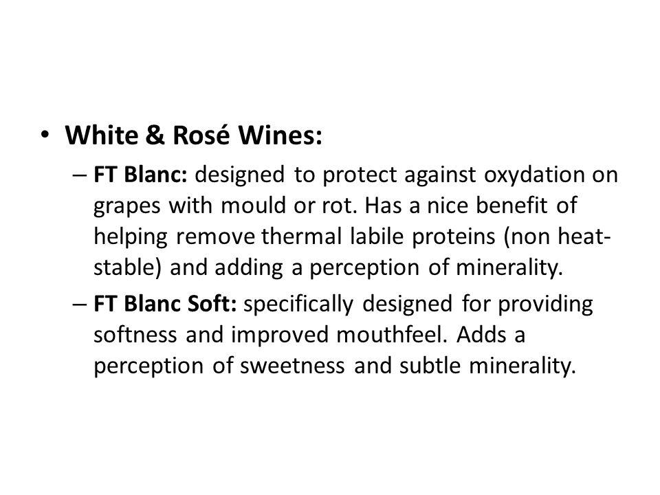 White & Rosé Wines: