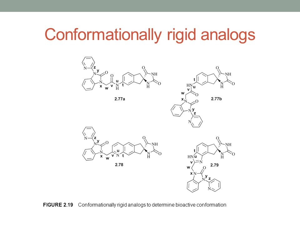 Conformationally rigid analogs