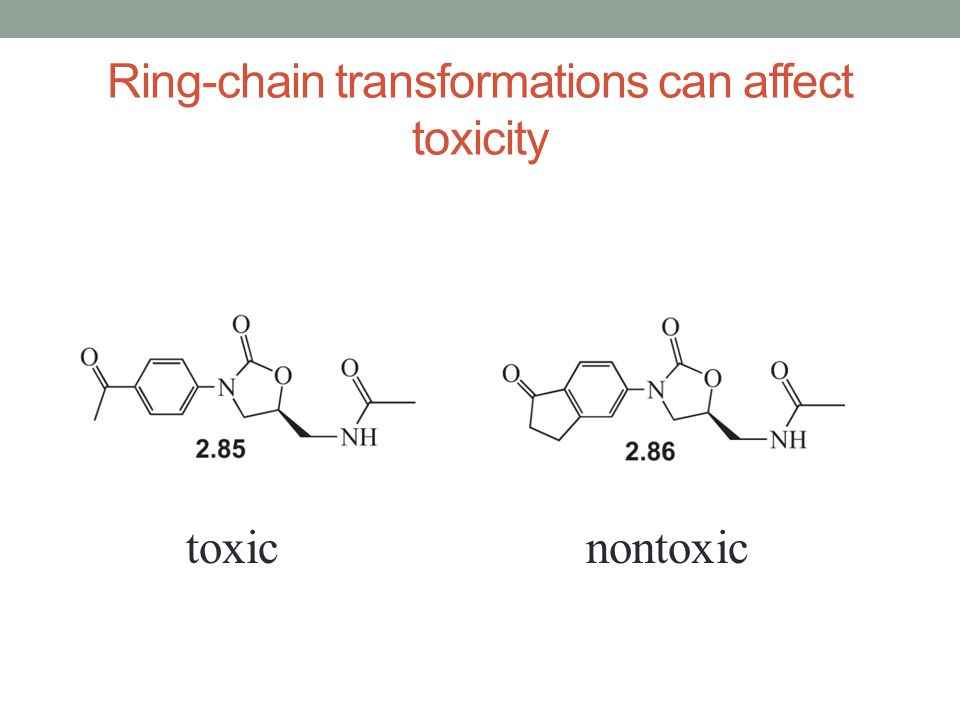 Ring-chain transformations can affect toxicity
