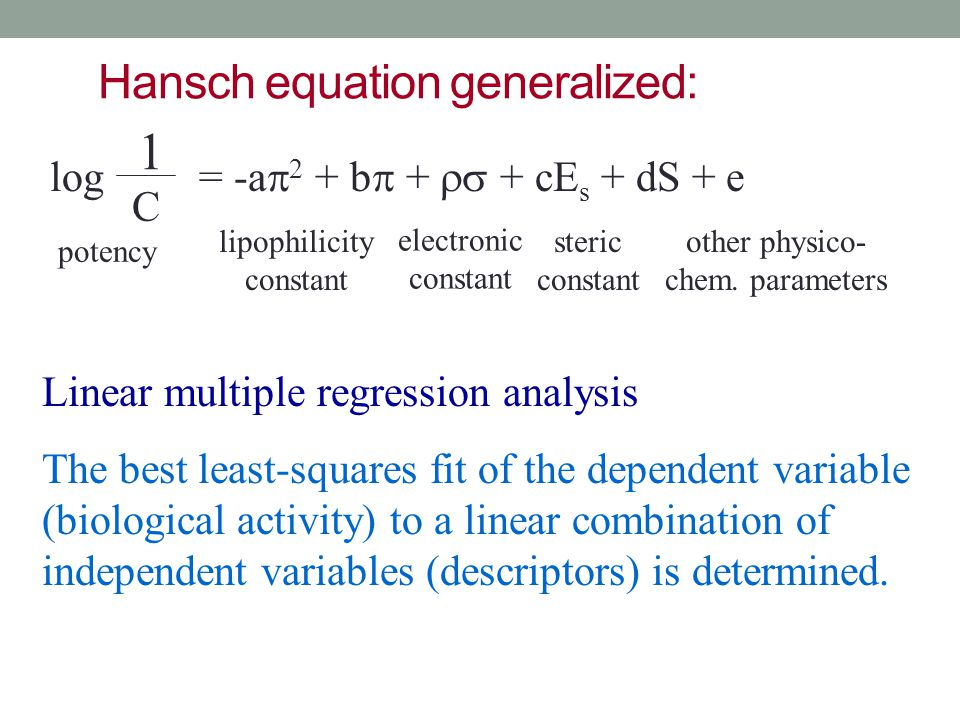Hansch equation generalized: