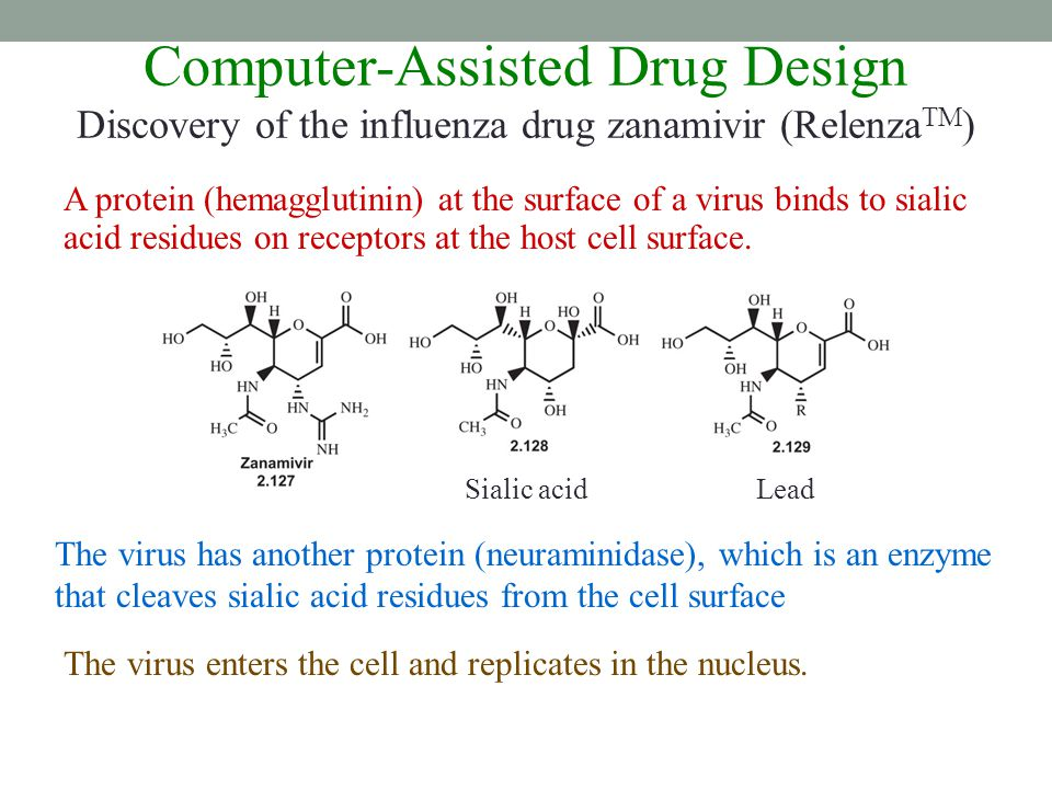 Computer-Assisted Drug Design Discovery of the influenza drug zanamivir (RelenzaTM)