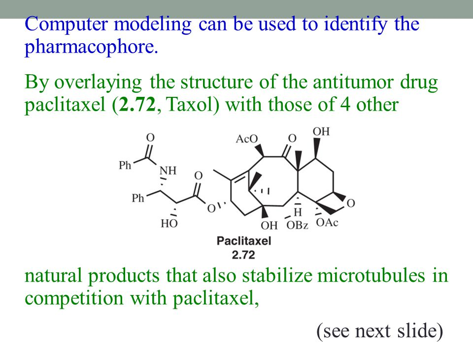 Computer modeling can be used to identify the pharmacophore.