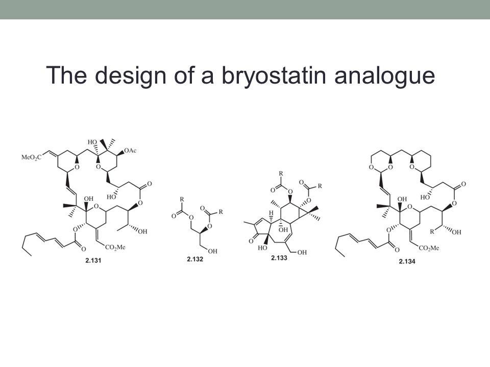 The design of a bryostatin analogue
