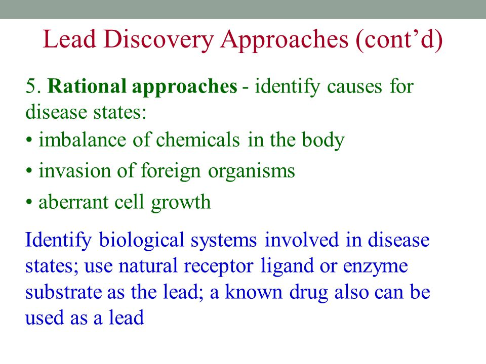 Lead Discovery Approaches (cont'd)