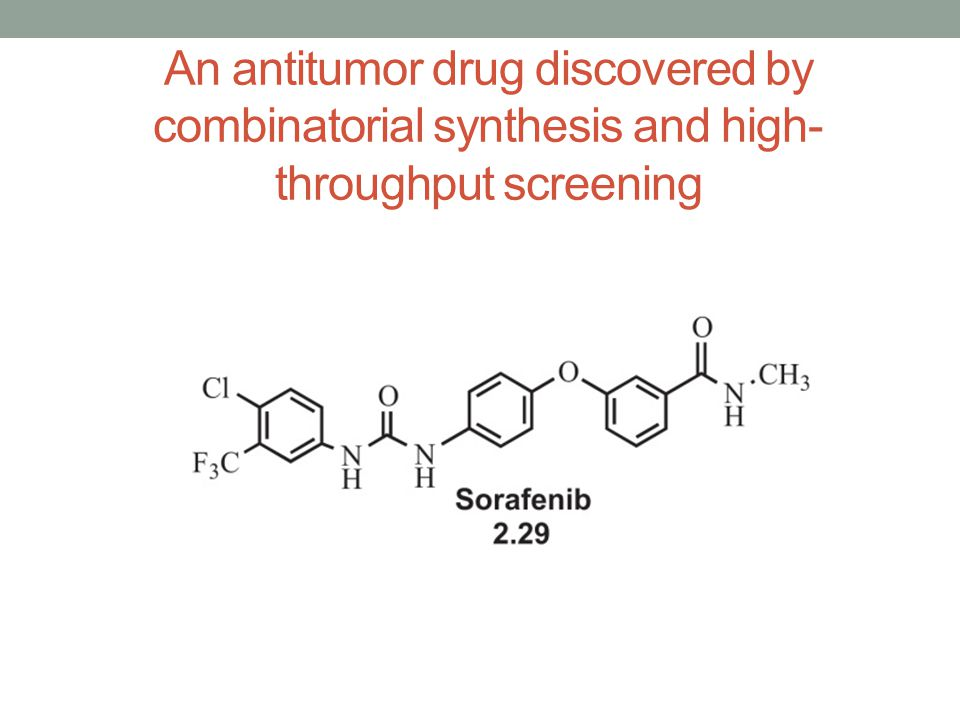 An antitumor drug discovered by combinatorial synthesis and high-throughput screening