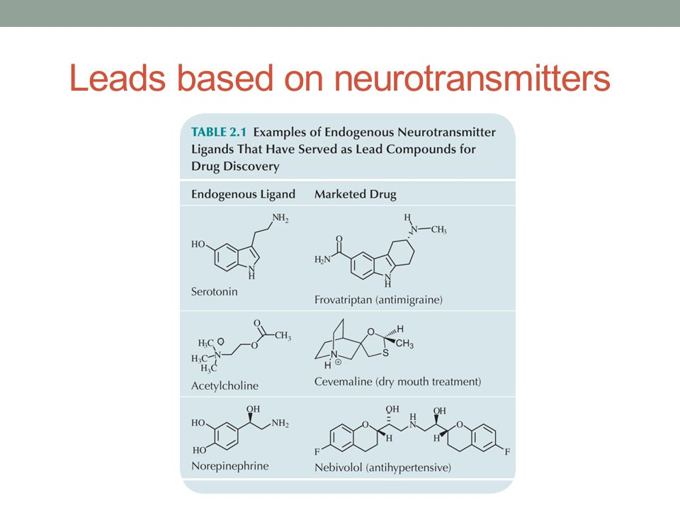 Leads based on neurotransmitters